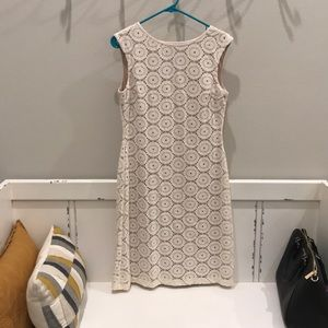 Pretty cream dress over nude lining